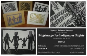 Several designs of card available to support the Pilgrimage
